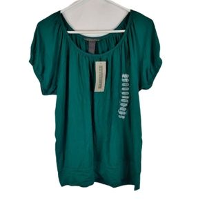 🆕 Kenneth Cole NWT green short sleeve top L